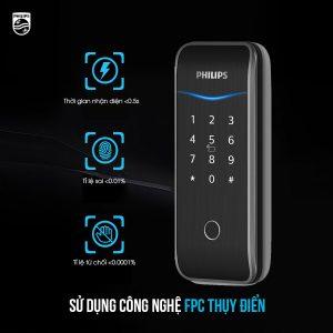 Khoá thông minh Philips 5100-5H sử dụng công nghệ vân tay hiện đại