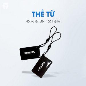 Khoá thẻ từ Philips hỗ trợ lên đến 100 mã số