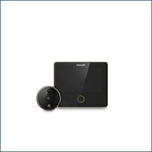 Mắt thần thông minh DV001 kết hợp với khóa cửa Philips 9300