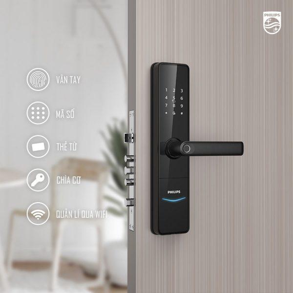 Khoá cửa vân tay cao cấp tích hợp nhiều phương thức mở khoá hiện đại, an toàn bảo mật